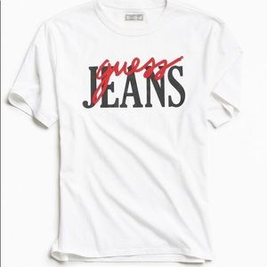 UO Guess Jeans Cropped Graphic T-shirt